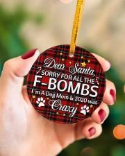 Dog Dear Santa Sorry For All The F-Bombs Circle ornament - single (porcelain) aos-circle-ornament-single-porcelain-lifestyles-09