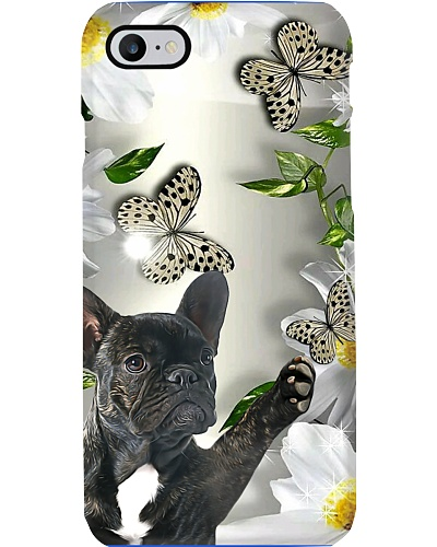 French Bulldog Daisy And Butterflies