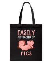 Easily Distracted By Pigs Tote Bag thumbnail