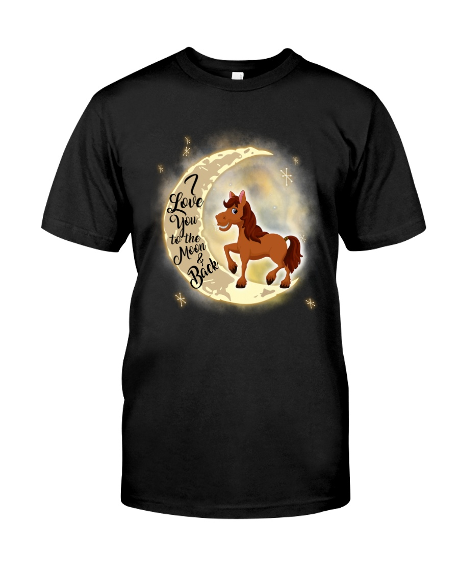 Horse and moon Classic T-Shirt