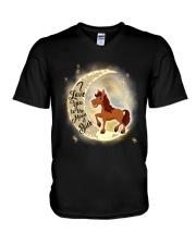 Horse and moon V-Neck T-Shirt thumbnail