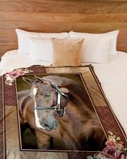 "Horse Beauty Large Fleece Blanket - 60"" x 80"" aos-coral-fleece-blanket-60x80-lifestyle-front-02"