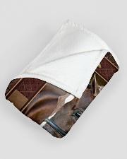 "Horse Beauty Large Fleece Blanket - 60"" x 80"" aos-coral-fleece-blanket-60x80-lifestyle-front-07"