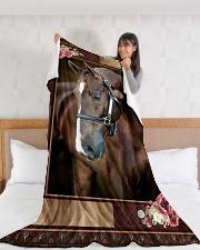"Horse Beauty Large Fleece Blanket - 60"" x 80"" aos-coral-fleece-blanket-60x80-lifestyle-front-11"