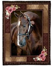 "Horse Beauty Large Fleece Blanket - 60"" x 80"" front"