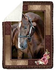 "Horse Beauty Large Sherpa Fleece Blanket - 60"" x 80"" thumbnail"
