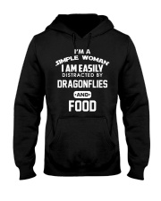 I am easily distracted by dragonflies and food Hooded Sweatshirt thumbnail