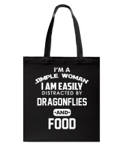 I am easily distracted by dragonflies and food Tote Bag thumbnail
