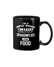 I am easily distracted by dragonflies and food Mug thumbnail