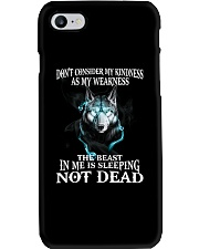 The beast in me is sleeping not dead Phone Case thumbnail
