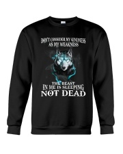 The beast in me is sleeping not dead Crewneck Sweatshirt thumbnail