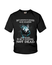 The beast in me is sleeping not dead Youth T-Shirt thumbnail