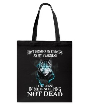The beast in me is sleeping not dead Tote Bag thumbnail