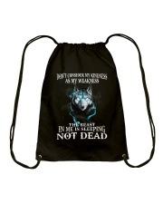 The beast in me is sleeping not dead Drawstring Bag thumbnail