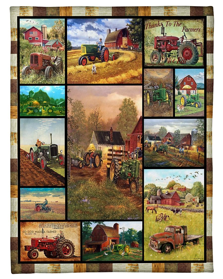 "Tractor Funny Blanket Farmer Graphic Design Small Fleece Blanket - 30"" x 40"""