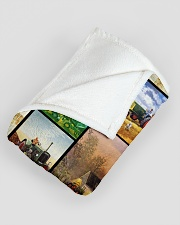 """Tractor Funny Blanket Farmer Graphic Design Large Fleece Blanket - 60"""" x 80"""" aos-coral-fleece-blanket-60x80-lifestyle-front-07"""