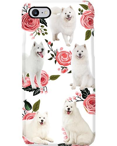 Samoyed Flower Phone Case
