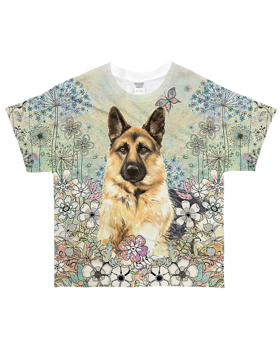 German Shepherd Flower Field All-over T-Shirt