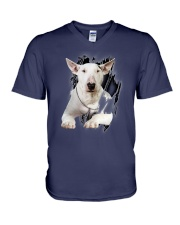 Bull Terrier Beauty V-Neck T-Shirt tile