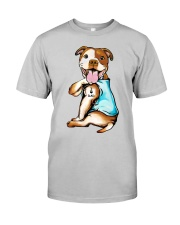 Pit Bull I Love Dad Classic T-Shirt front