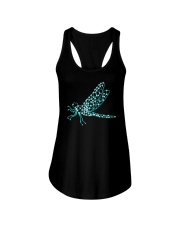 Dragonfly Ruby Ladies Flowy Tank tile