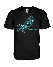 Dragonfly Ruby V-Neck T-Shirt thumbnail
