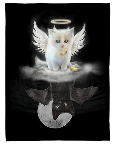 Cat Funny Angel Devil Reflection Graphic Design