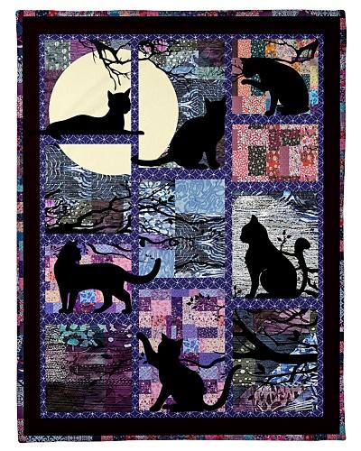 Cat Funny Blanket Black Cat Beauty Graphic Design