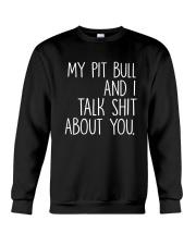 Pit Bull - I and Pit Bull Crewneck Sweatshirt thumbnail