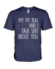 Pit Bull - I and Pit Bull V-Neck T-Shirt thumbnail