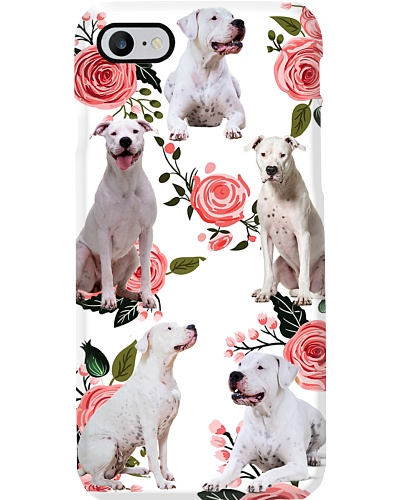 Dogo Argentino Beauty Flower Phone Case