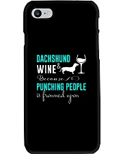 Dachshund And Wine Phone Case thumbnail