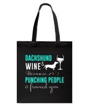 Dachshund And Wine Tote Bag thumbnail