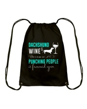 Dachshund And Wine Drawstring Bag thumbnail