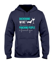 Dachshund And Wine Hooded Sweatshirt thumbnail