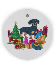 Dachshund Xmas Gift Circle Ornament (Wood tile