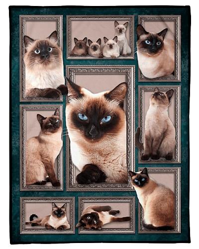 Cat Funny Blanket Siamese Cat Graphic Design