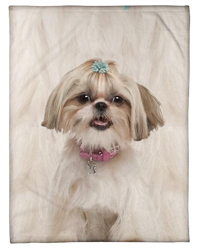 Shih Tzu Funny Blanket Beauty Graphic Design