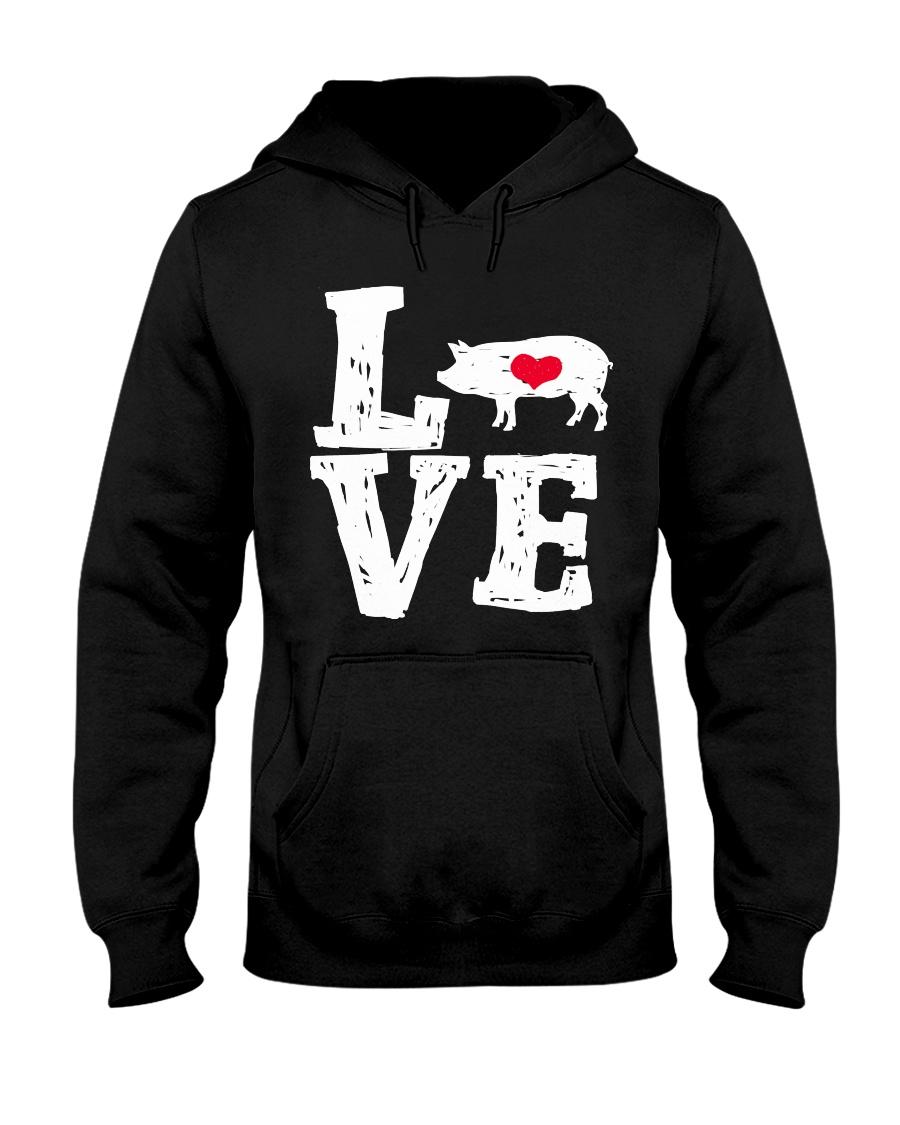 Pigs Love Hooded Sweatshirt