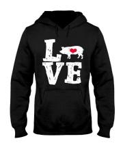 Pigs Love Hooded Sweatshirt front