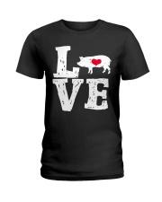 Pigs Love Ladies T-Shirt thumbnail