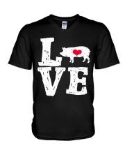 Pigs Love V-Neck T-Shirt thumbnail