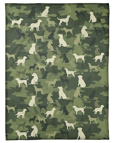 Labrador Funny Blanket Camou Graphic Design