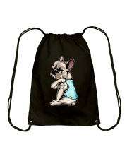 French Bulldog- I'm not pug Drawstring Bag thumbnail