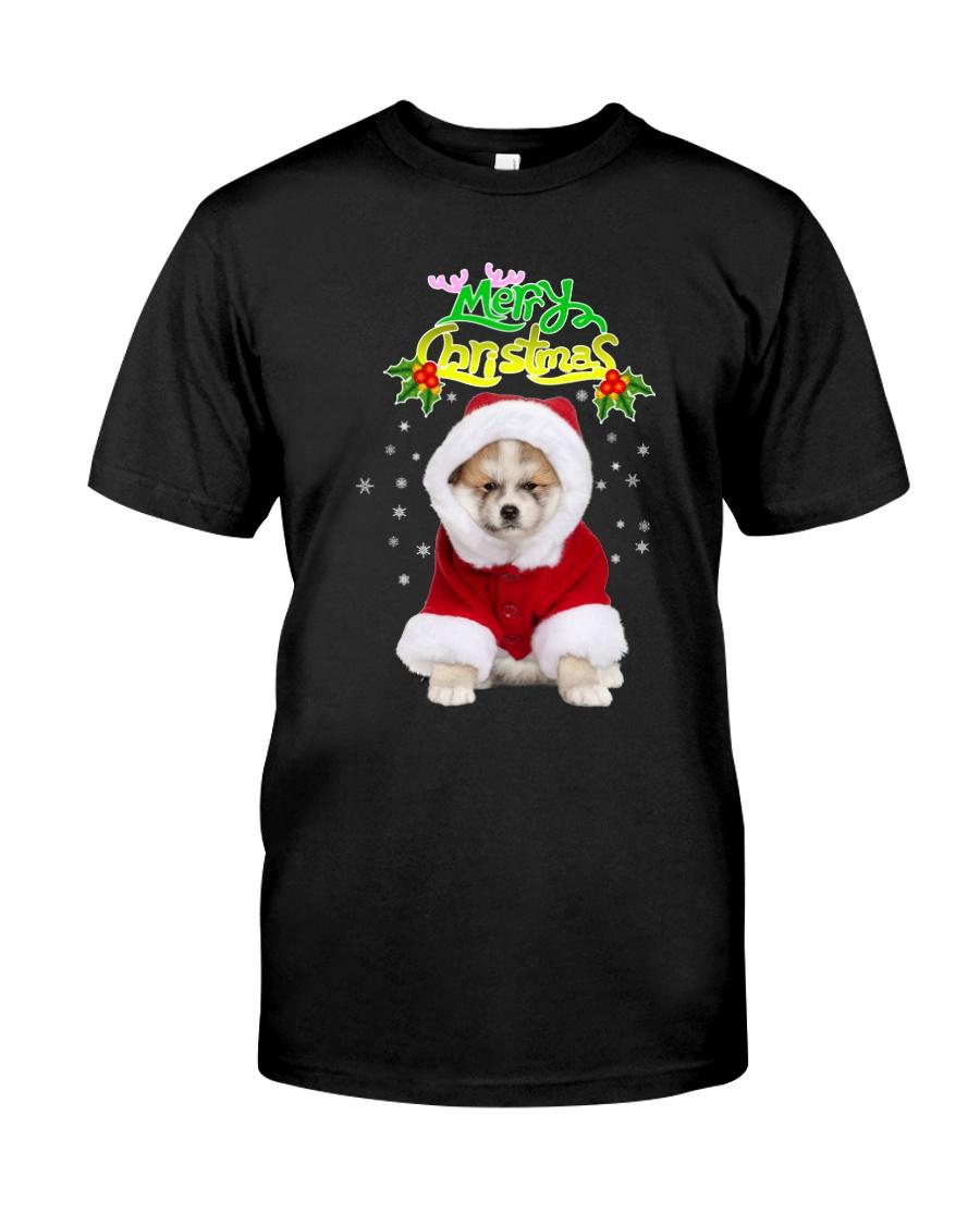 Akita Merry Xmas Classic T-Shirt