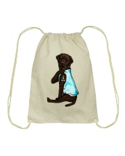 Chocolate Labrador I Love Mom Tattoo Drawstring Bag thumbnail