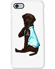 Chocolate Labrador I Love Mom Tattoo Phone Case thumbnail