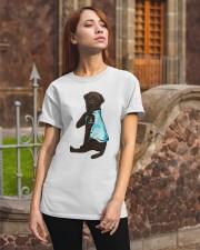 Chocolate Labrador I Love Mom Tattoo Classic T-Shirt apparel-classic-tshirt-lifestyle-06