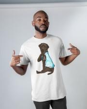 Chocolate Labrador I Love Mom Tattoo Classic T-Shirt apparel-classic-tshirt-lifestyle-front-32