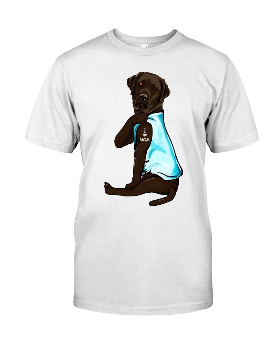 Chocolate Labrador I Love Mom Tattoo Classic T-Shirt